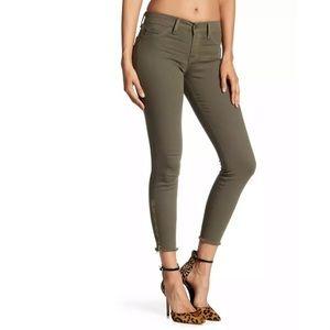 Pistola Mid Rise Skinny Leg Zip Jeans Olive Green